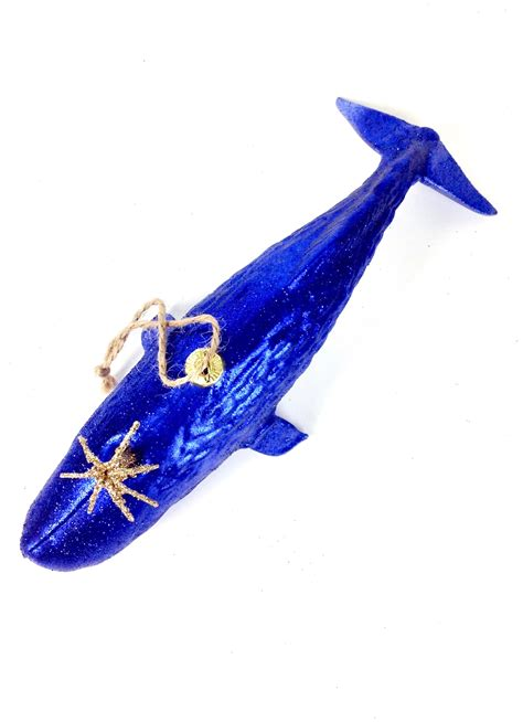 navy ornament navy whale ornament go home modern decor gifts