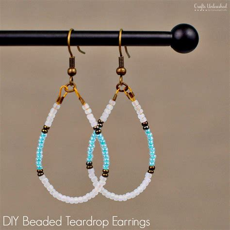 diy beaded earrings tutorial diy beaded earrings teardrop tutorial crafts unleashed