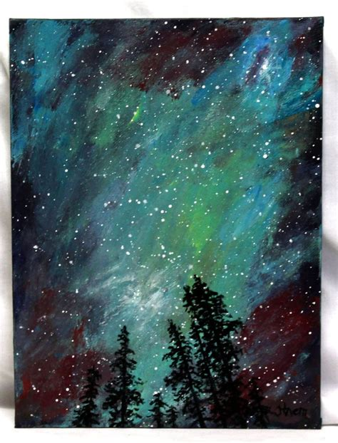 acrylic painting to light or light to 17 best images about watercolor northern lights on