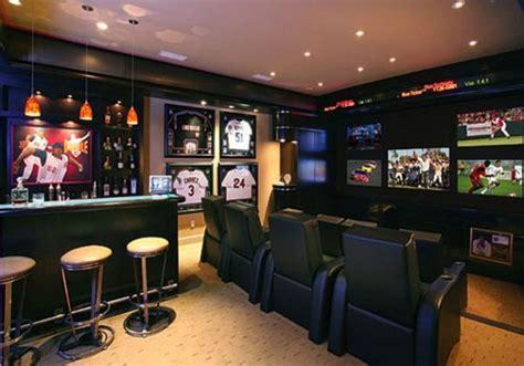 sports themed basement ideas themed basement bar designs