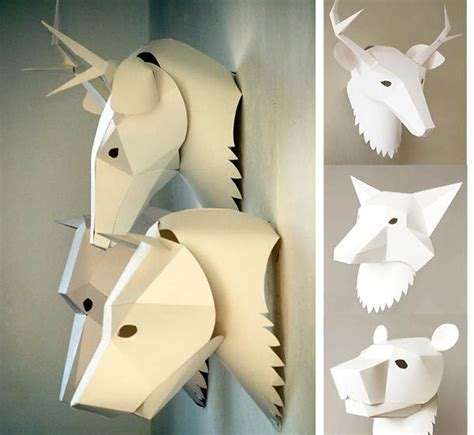 3d craft paper 51 best images about paper masks on deer
