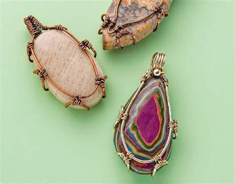 how to make jewelry with wire and stones 6 ways to alter wire for more interesting wire jewelry