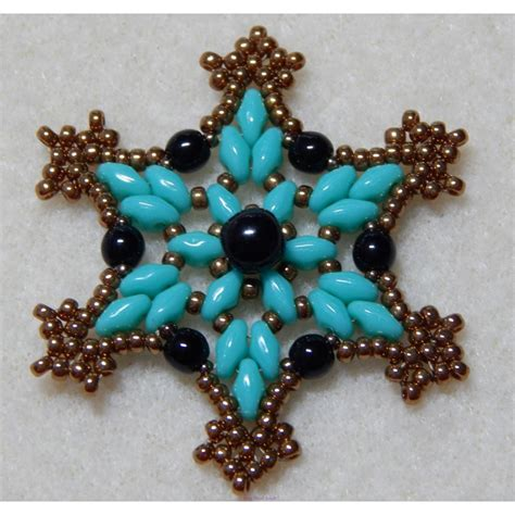 beaded ornament pattern snowflake 2 beaded ornament pattern west jewels