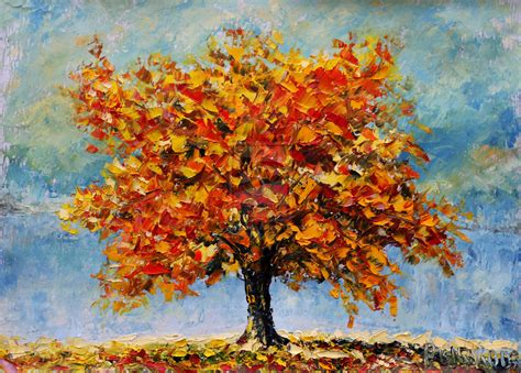 painting palette knife autumn landscape palette knife painting available by