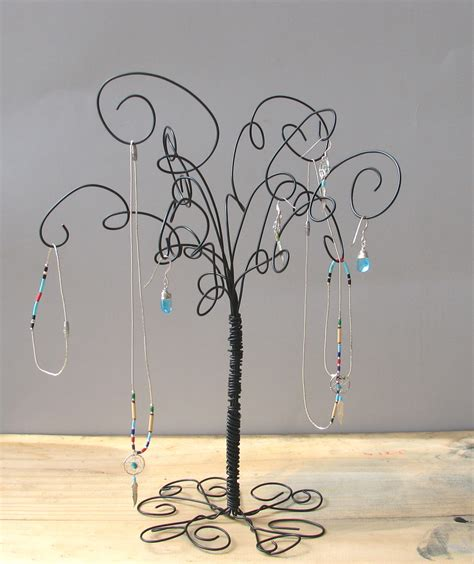 how to make a wire jewelry tree wire jewelry tree stand earring rings bracelets