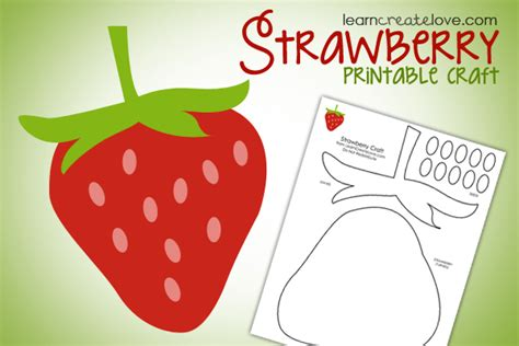 printable crafts for printable strawberry craft