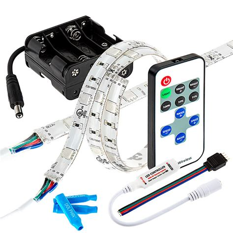 battery led light strips rgb battery powered led light strips kit multicolor 2
