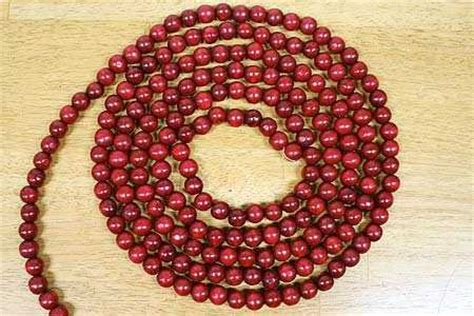 wooden bead garland for trees fashioned ornaments