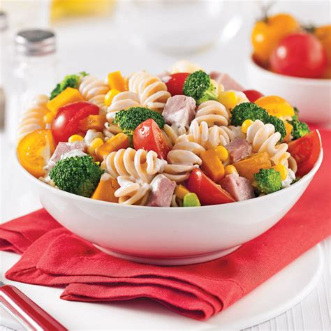 salade de p 226 tes au jambon et l 233 gumes recettes cuisine et nutrition pratico pratique