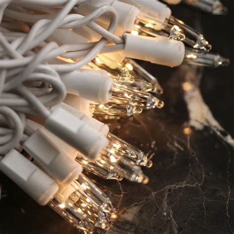 white cord string lights clear bulb and white cord string lights lighting