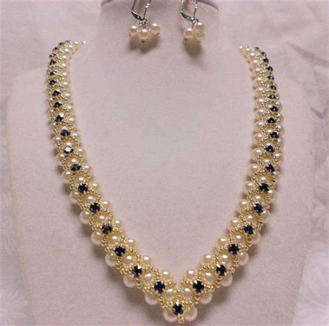 how to make pearl jewelry v pearl necklace bead weaving