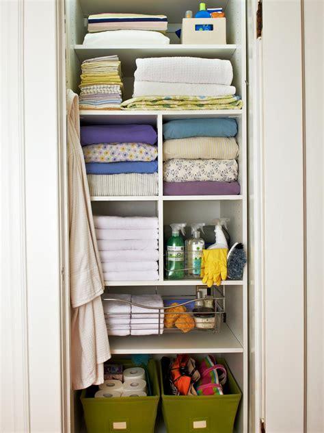 linen closet organizing a linen closet hgtv