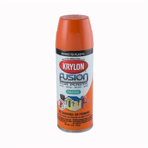 spray paint krylon krylon fusion for plastic gloss orange spray paint ace