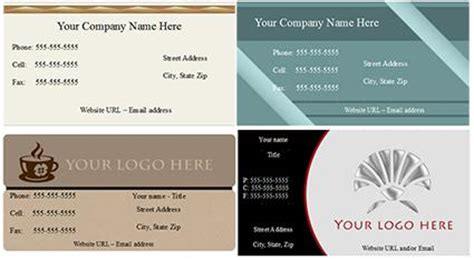 Open Office Business Card Template Lovetoknow
