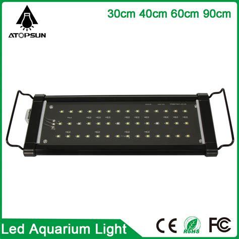 1pcs 30cm 40cm 60cm 90cm led aquarium lighting fish tank l white blue marine aquarium led
