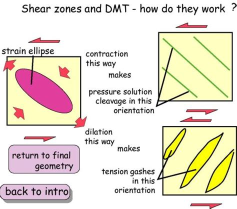 do they work shear zones and dmt