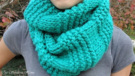 how to knit an infinity scarf with needles easy knitted infinity scarf our southern home