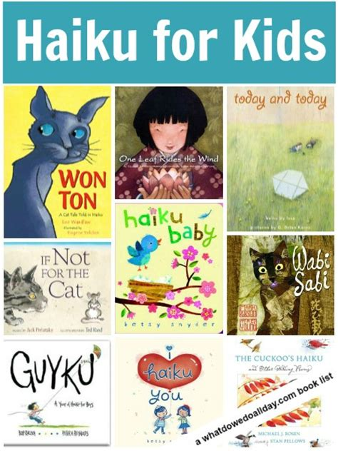 poetry picture books haiku poetry books for