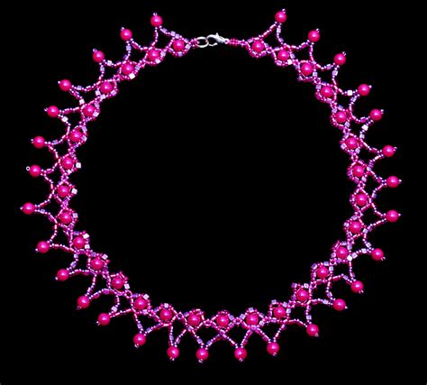 beaded choker necklace patterns free pattern for beaded necklace magic