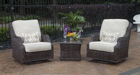 resin wicker patio furniture sets mila collection 2 person all weather wicker patio