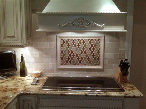 marble tile backsplash kitchen crackled glass tumbled marble fuda tile