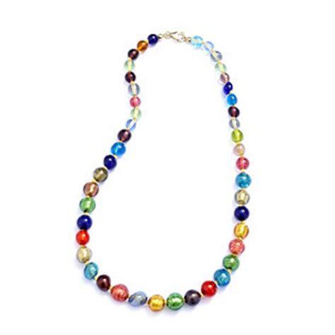 multi coloured bead necklace murano glass multi coloured graduated bead necklace