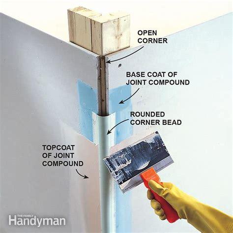 installing paper corner bead how to make bullnose corners family handyman