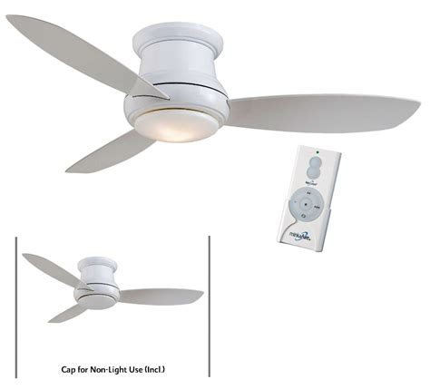 ceiling fan remotes minka aire f519l wh white concept ii 52 quot ceiling fan w
