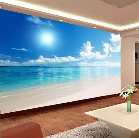 relaxing wall murals relaxing 3d calm blue sky wallpaper mural wall
