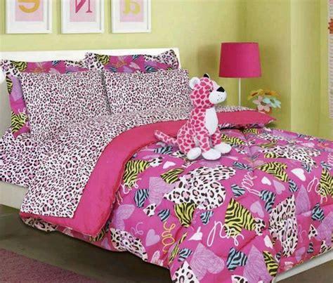 size cheetah print bed set bed in a bag pink cheetah zebra print minto