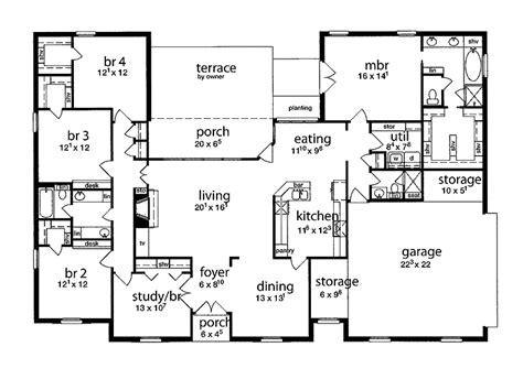 5 bedroom floor plans 1 story floor plan 5 bedrooms single story five bedroom tudor home bedrooms