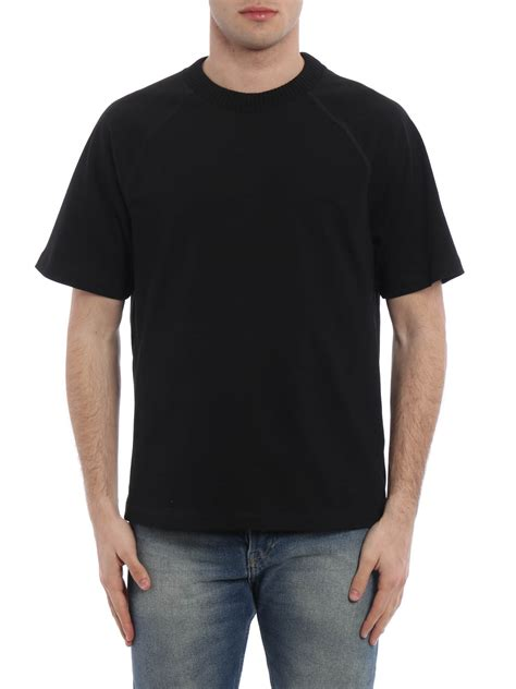 rib knit collar rib knitted collar t shirt by moncler t shirts ikrix