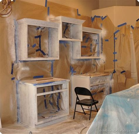 spray painting unfinished cabinets blackberry white chocolate buckle recipe kitchen ideas