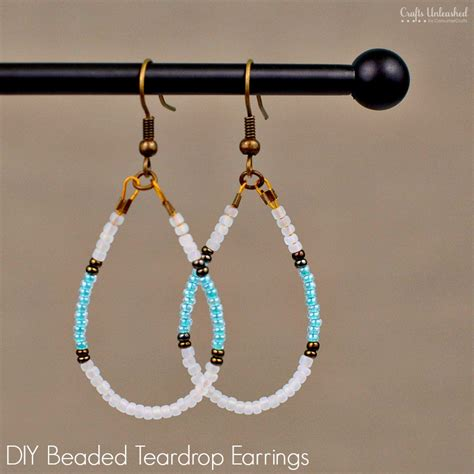 how to make beaded jewelry earrings diy beaded earrings teardrop tutorial crafts unleashed