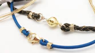 how to make jewelry with leather cord how to attach any clasp to leather or thick cord jewelry