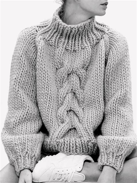 thick cable knit sweater best 25 chunky knit sweaters ideas on
