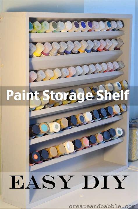 acrylic paint rack 25 best ideas about craft paint storage on