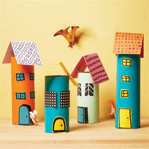 miniature paper craft how to make a mini city out of paper rolls today s parent