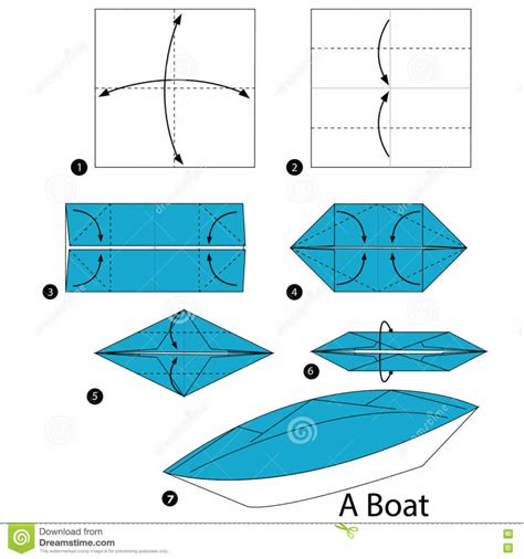 origami canoe free coloring pages step step how to make