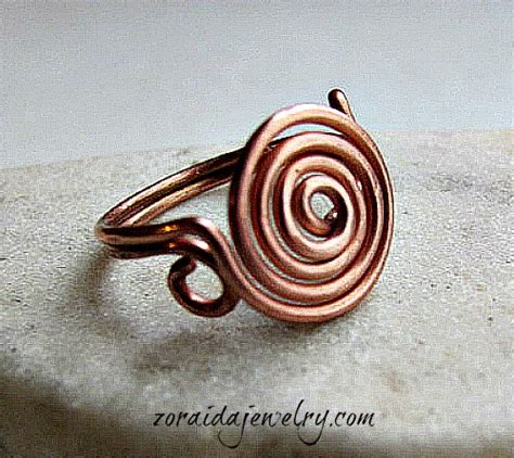 how to make wire jewelry rings how to make a spiral wire ring z jewelry