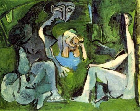 picasso painting yard sale le dejeuner sur l herbe manet 8 1961 cubism painting in