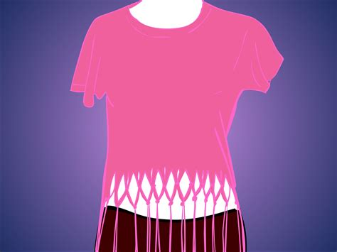 how to make a fringed shirt with how to fringe a shirt 14 steps with pictures wikihow