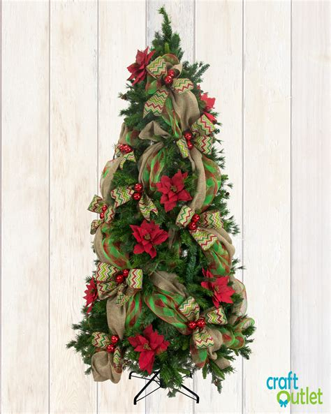 deco mesh ideas for trees tree decorating with burlap and deco mesh