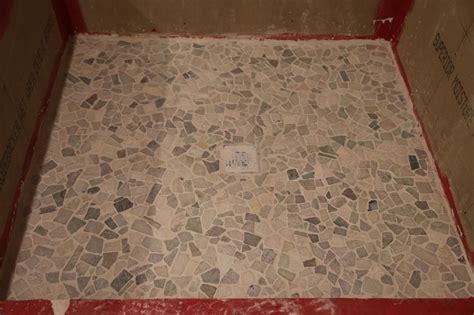 bathroom shower floor tiles bathroom floor is finished geeky engineer