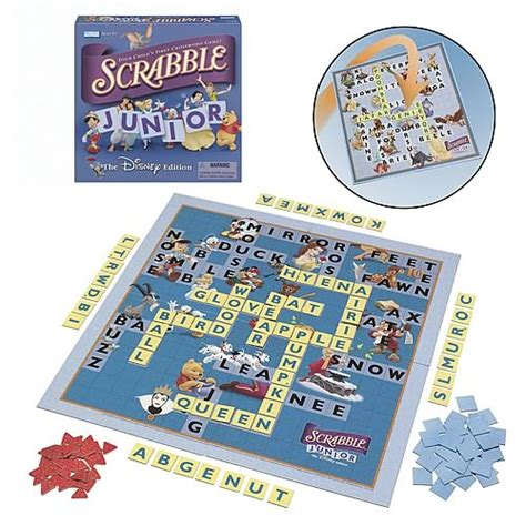 scrabble junior disney scrabble junior the disney edition hasbro