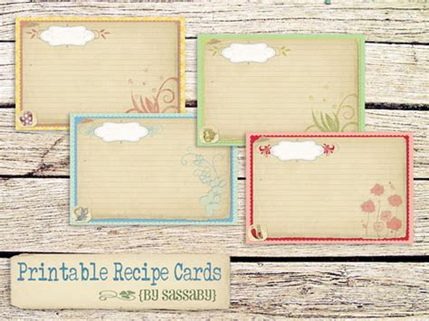 make a card and print free 25 free printable recipe cards home cooking memories