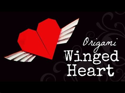 origami hearts with wings origami winged francis ow