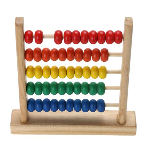 beaded calculators mini wooden abacus children s early math learning