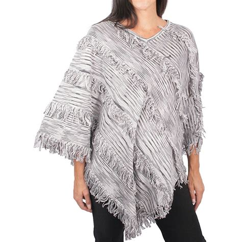 womens knit poncho ethyl fringed knit poncho for save 78