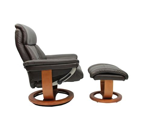 real leather recliner swivel chairs chocolate genuine leather swivel chair and foot stool